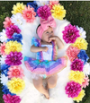 Ana Rainbow Striped Tutu Dress