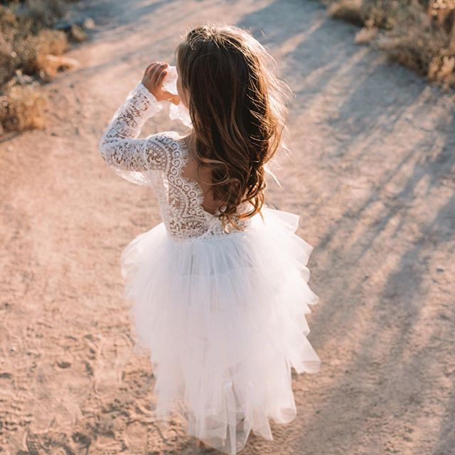 Girls Lace Tulle Dress Abby Apples Boutique