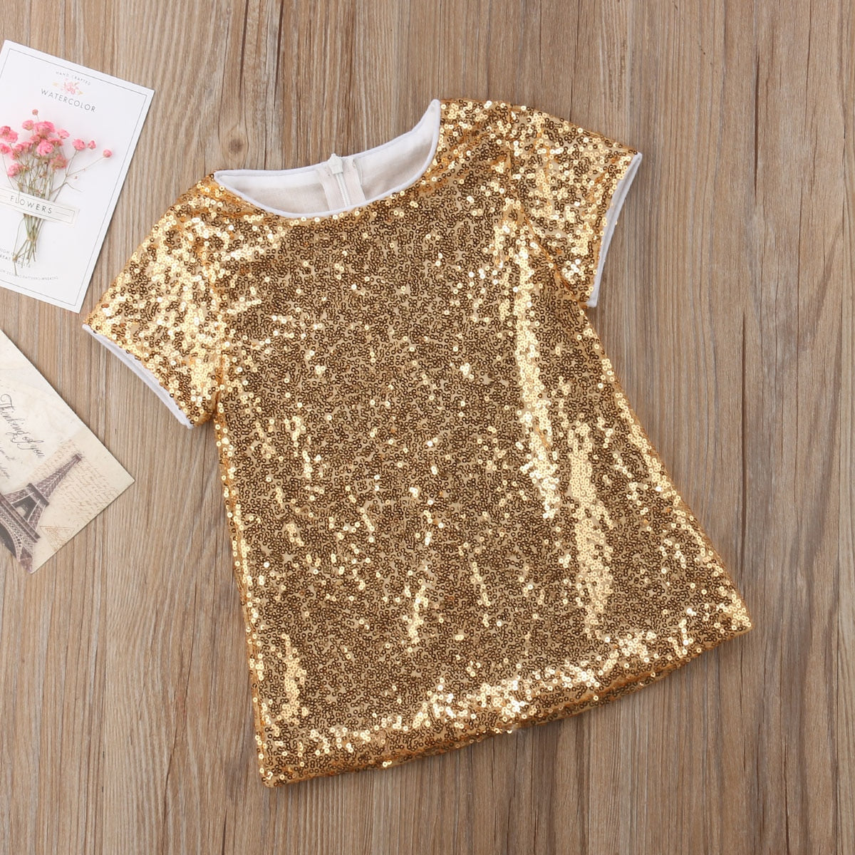 1ac7f6d3ae78 Gold Sequin Party Dress - Abby Apples Boutique