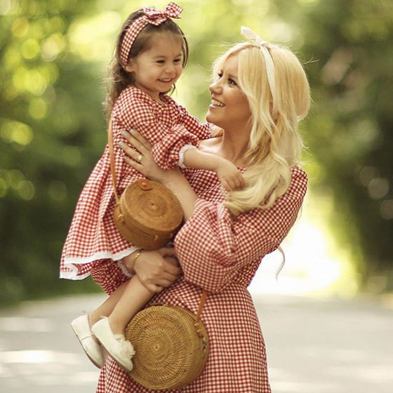 Mommy & Me Red Gingham Dress - Abby Apples Boutique