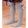 Checkered Bow Knee High Socks - Abby Apples Boutique