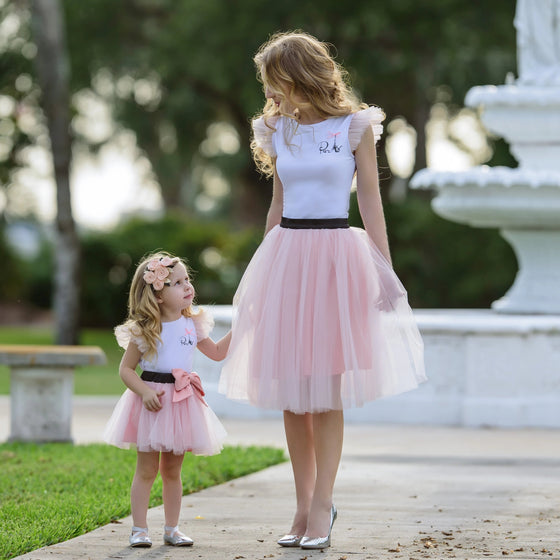 Mommy & Me Matching Tulle Skirt Set - Abby Apples Boutique