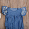 Ivy Denim Romper - Abby Apples Boutique