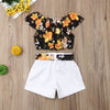 Avery Flower Shirt and Short Set