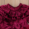 Victoria Ruffle Velvet Holiday Dress - Abby Apples Boutique