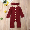 Karley Long Sleeve Button Onesie - Abby Apples Boutique
