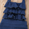 Amanda Ruffle Denim Jumpsuit - Abby Apples Boutique