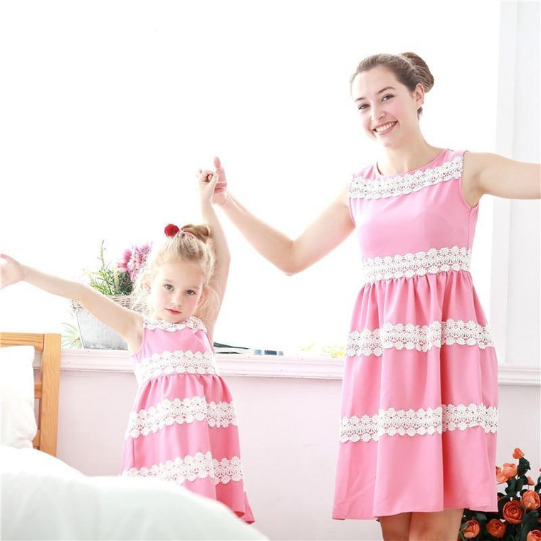 Mommy & Me Lace Dress (2 color options) - Abby Apples Boutique