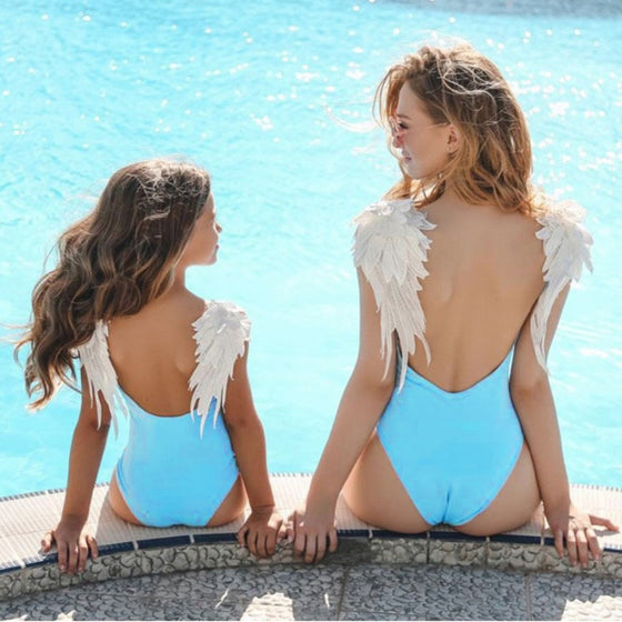 Mommy & Me Angel Wing Swimsuit - Abby Apples Boutique