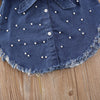 Becky Denim Pearl Dress