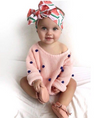 Tropical Baby Bowtie Headband - Abby Apples Boutique