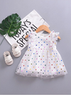 Emme Polka Dot Romper Dress - Abby Apples Boutique