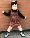 Lola Leopard Overall Dress