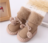 Pom Pom Anti-Slip Baby Booties - Abby Apples Boutique