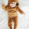 Karley Hooded Button Onesie - Abby Apples Boutique