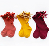 Knee High Ruffle Bow Socks - Abby Apples Boutique