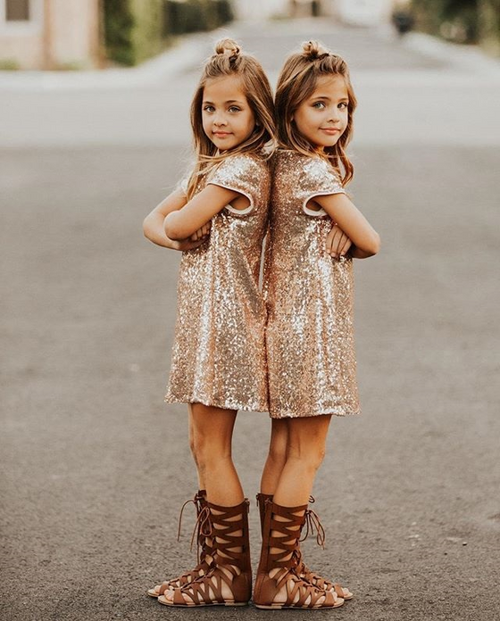 Gold Sequin Party Dress - Abby Apples Boutique