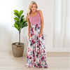 Mommy & Me Sleeveless Floral Long Dress - Abby Apples Boutique