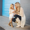 Lace Mommy & Me Cardigan And Tank Top Set - Abby Apples Boutique