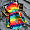 Hooded Rainbow Striped Windbreaker - Abby Apples Boutique