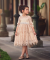 Lace Dress with Bow Sash
