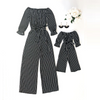 Mommy and Me Striped Jumpsuits - Abby Apples Boutique