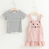 Leslie Overall Bunny Dress - Abby Apples Boutique