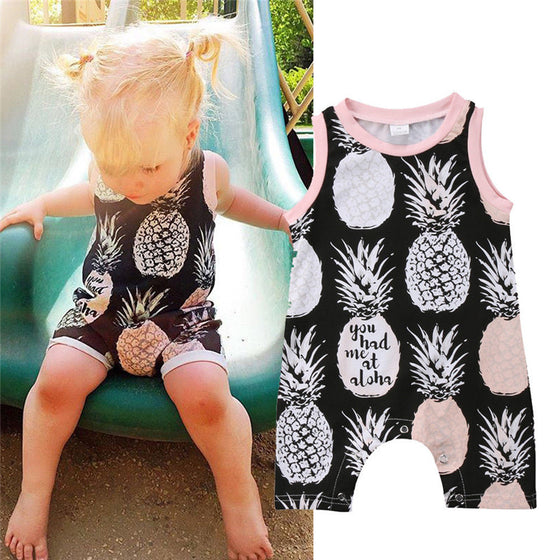 Katie Pineapple Romper - Abby Apples Boutique
