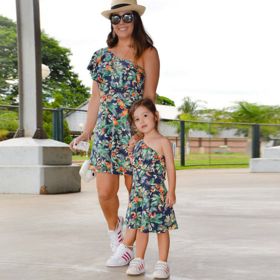 Mommy and Me Tropical Dress - Abby Apples Boutique
