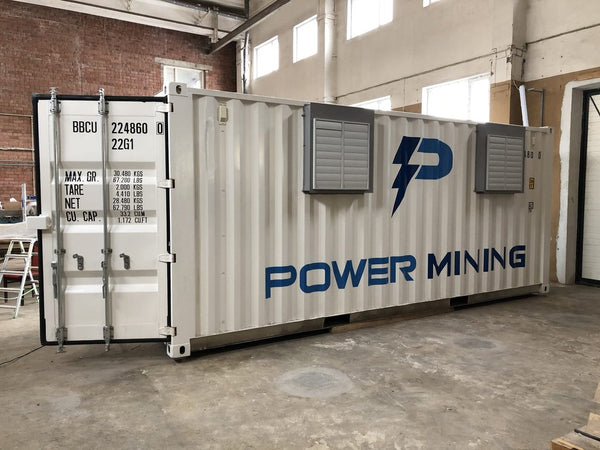 GPU/ ASIC Power Mining cryptocurrency Mobile Mining Unit - container (<120kW)