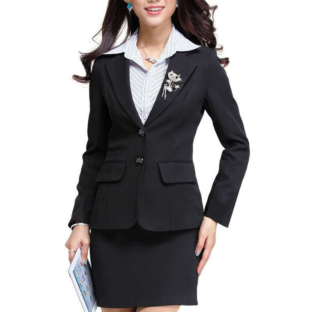 rose buttons default index jacket denny with brooch thickbox black blazer