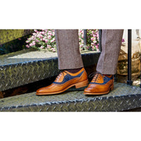 Brandon Cedar Calf/ Blue Suede