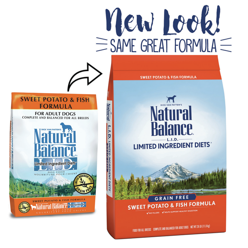 Natural Balance L.I.D. Limited Ingredient Diets Sweet Potato and Fish Adult Dry Dog Food