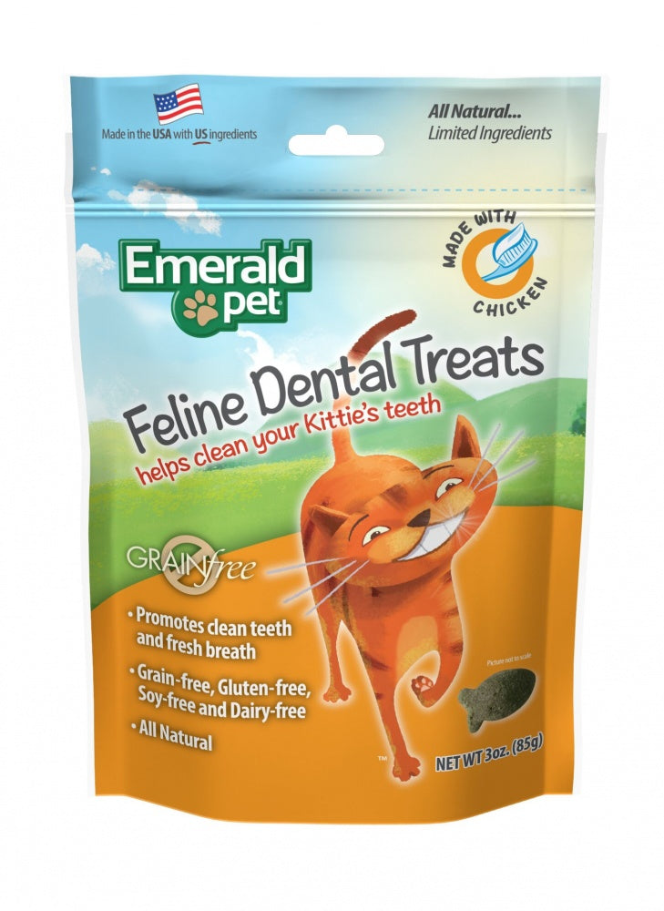 Emerald Pet Dental Treats Chicken Flavor for Cats