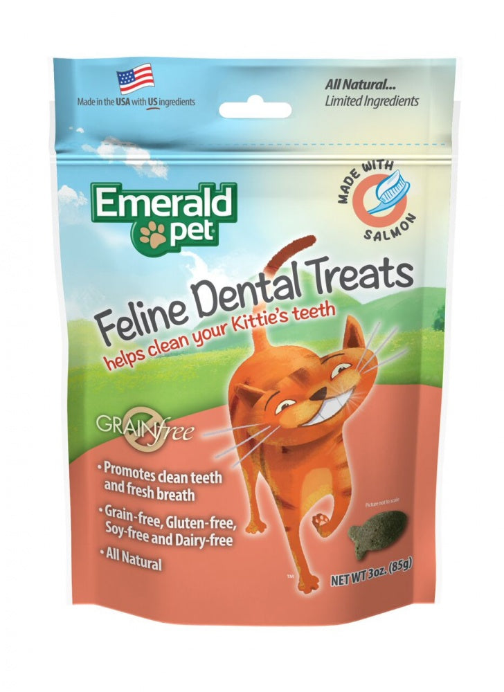 Emerald Pet Dental Treats Salmon Flavor for Cats