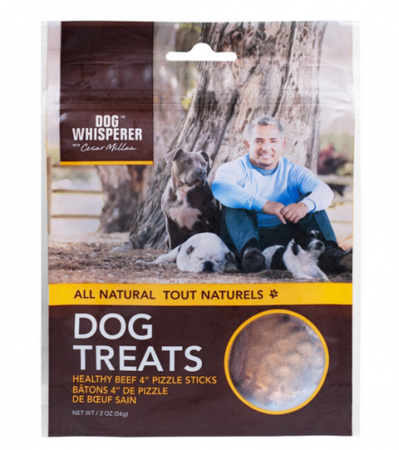 Cesar Millan All Natural Healthy Beef 4 Inch Pizzle Sticks Dog Treats