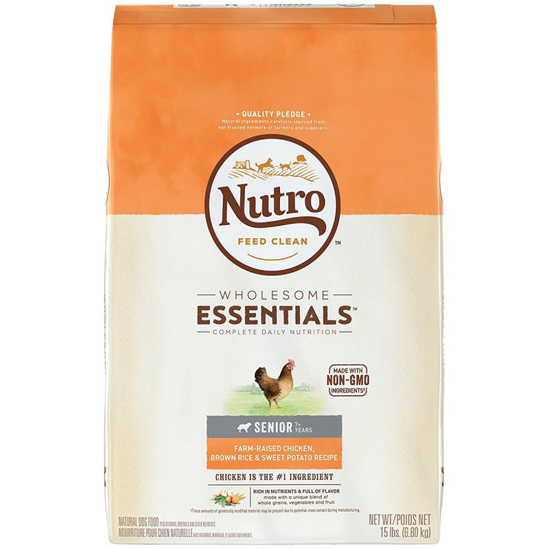 Nutro Wholesome Essentials Senior Chicken, Whole Brown Rice and Sweet Potato Formula Dry Dog Food