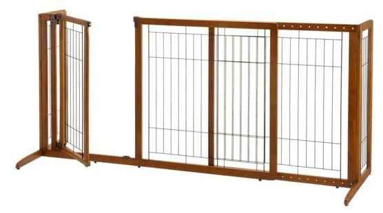 Richell Deluxe Freestanding Pet Gate with Door