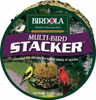 Birdola Multi-Bird Blend Stacker Seed Cake 6.4 Oz.