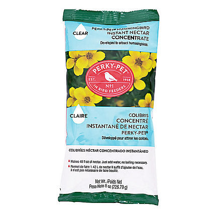 Clear Powder Hummingbird Nectar Concentrate 8 oz Bag