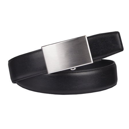 Classic Feather-Edge Plaque-Buckle Belt