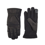 Leather Mixed Media Winter Touchscreen Stretch Glove with Fleece