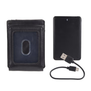 RFID Stretch Wide Magnetic Front Pocket Wallet with Charger & Money Clip
