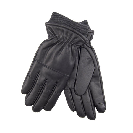 Genuine Leather Winter Touchscreen Stretch Glove with Flecce