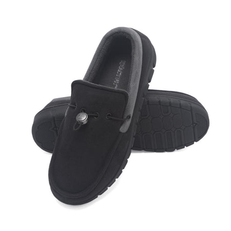 Exact Fit Mens Indoor Outdoor Memory Foam Drawstring Venetian House Shoe Slipper