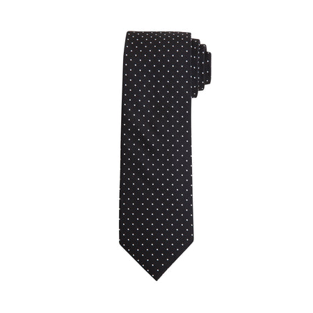 Exact Fit Polkadot Stretch Tie