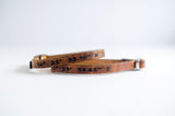 Latitude & Longitude Single Wrap Leather Bracelet - Set of Two