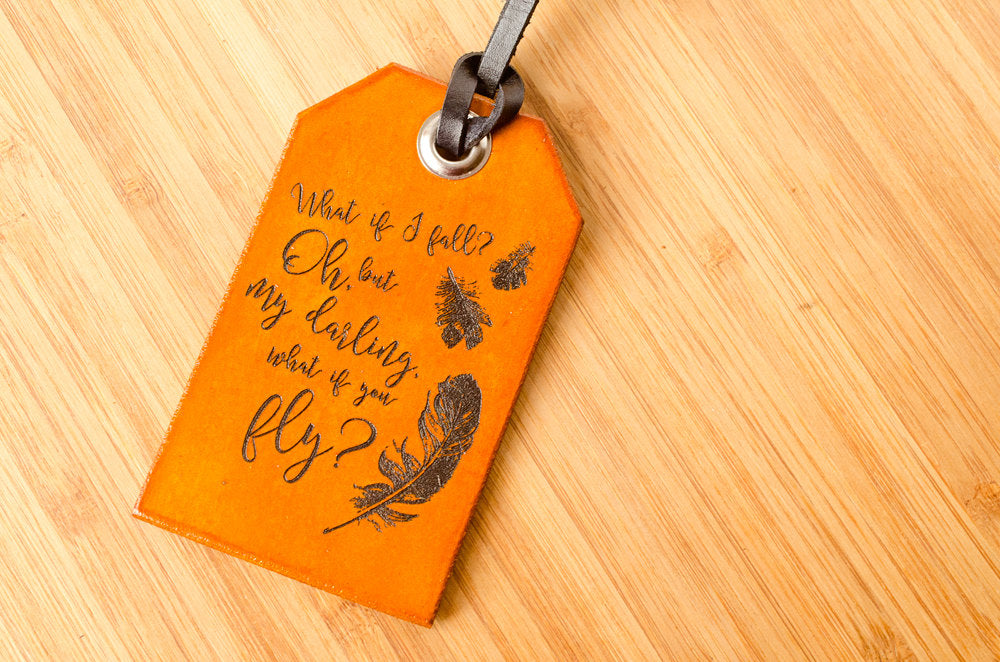 What if You Fly Custom - Leather Luggage Tag