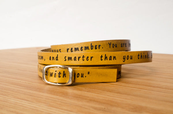 To My Lovelies, Winnie the Pooh Ultra Long Leather Wrap Bracelet