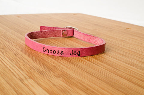 Choose Joy - Single Wrap Bracelet